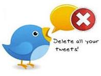 как удалить твиты в твиттере