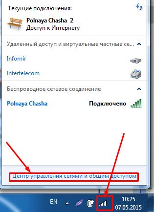 общий доступ к сетям