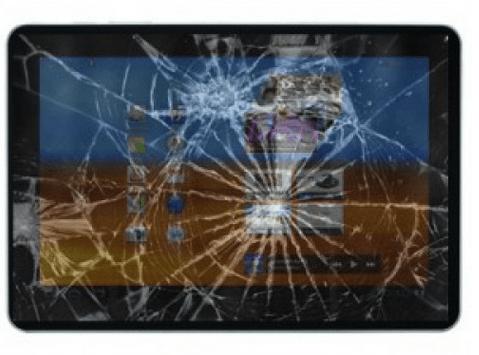 разбитый сенсор на планшете