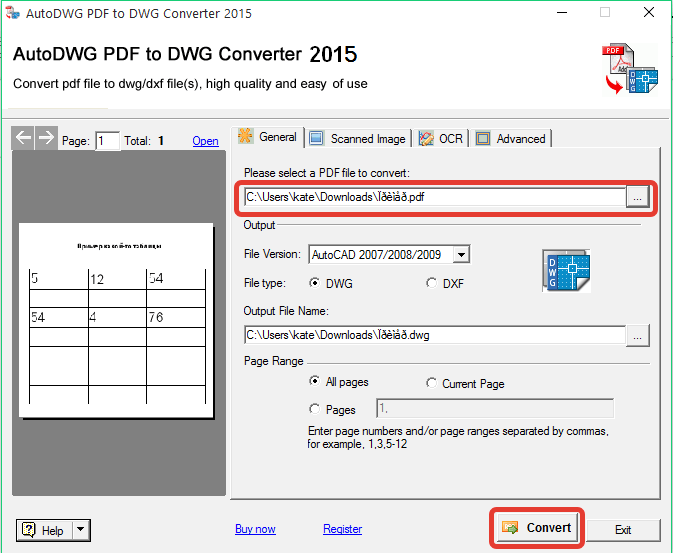Конвертер PDF в DWG