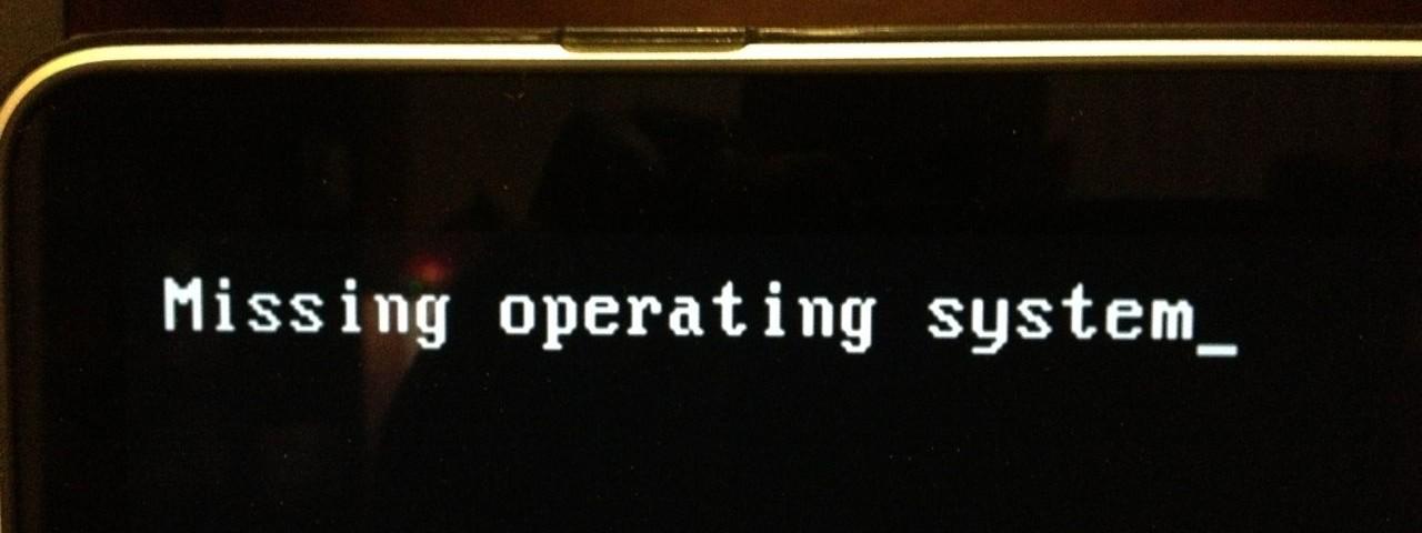 Missing Operating System - что делать