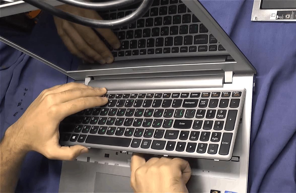 Замена HDD на SSD в Lenovo Z500