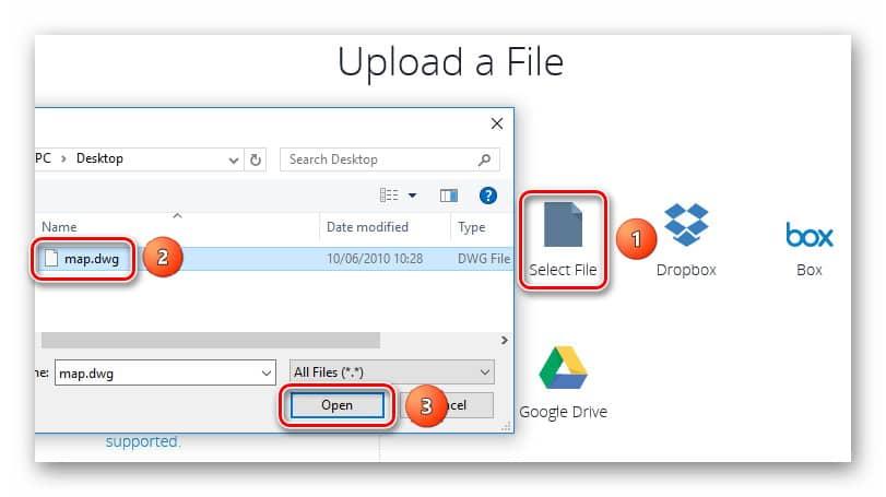 A360 Viewer_Процесс загрузки файла