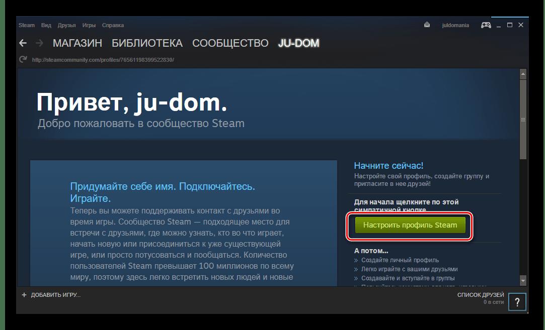 Steam настройки профиля