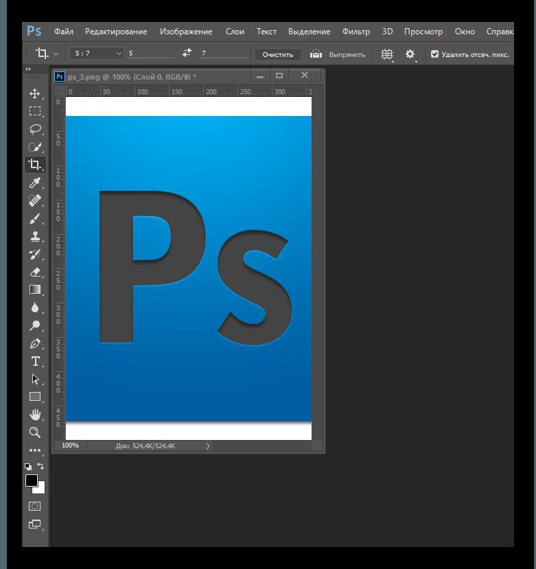 Усеченный снимок в Adobe Photoshop