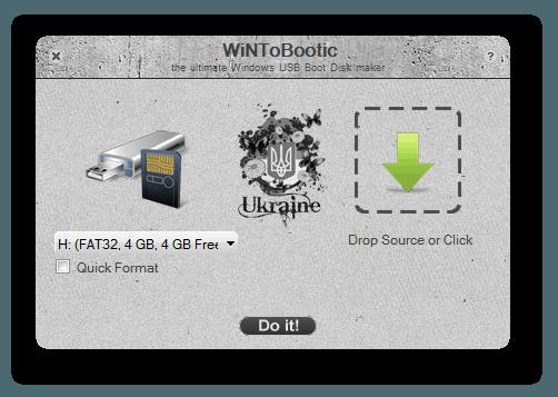 Загрузочный накопитель с WiNToBootic