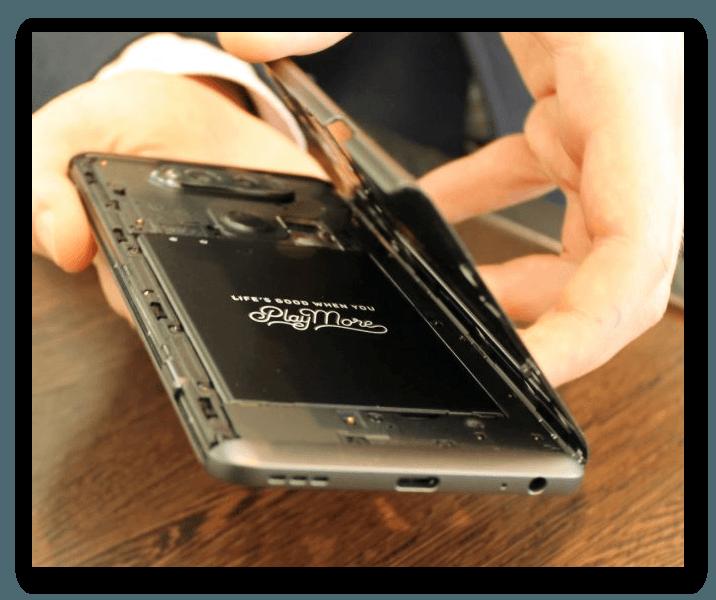 Съёмная батарея на планшете