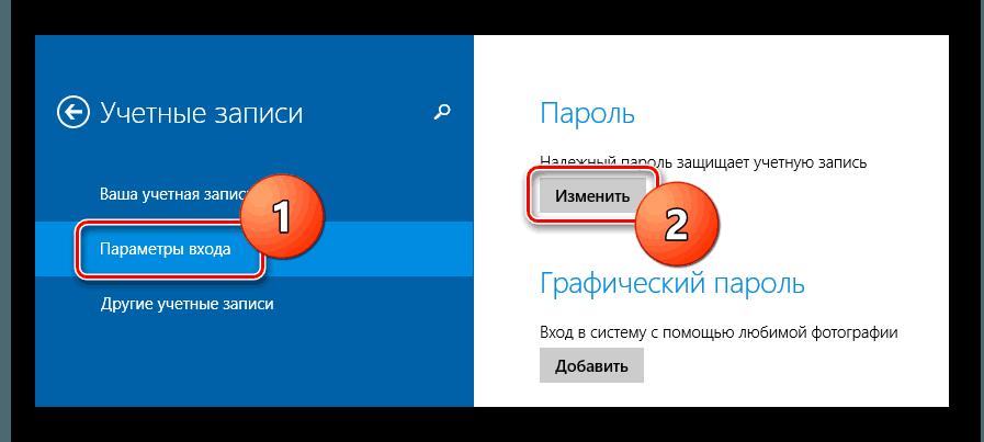 Параметры входа Windows-8