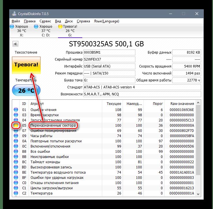 Плохое состояние диска в Crysyal-Disk-Info