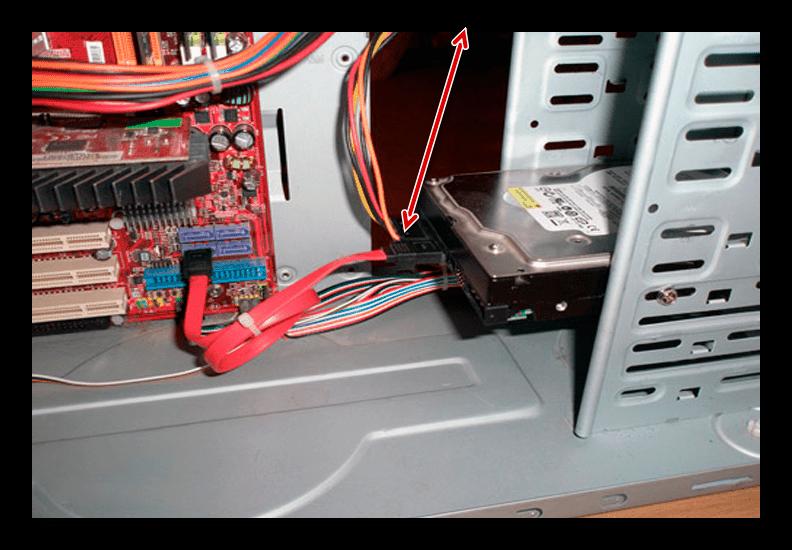 Соединение SATA диска с БП