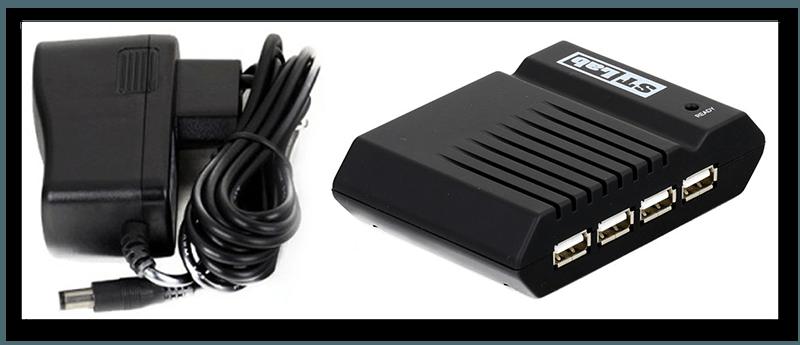 USB конденсатор с блоком питания