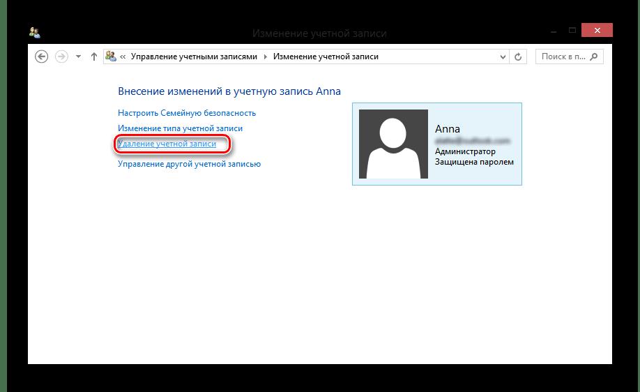 Windows 8 изменение учётной записи