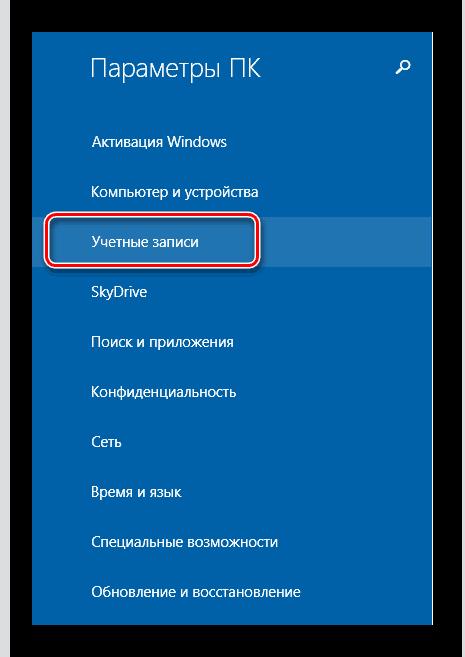 Windows 8 учётные записи