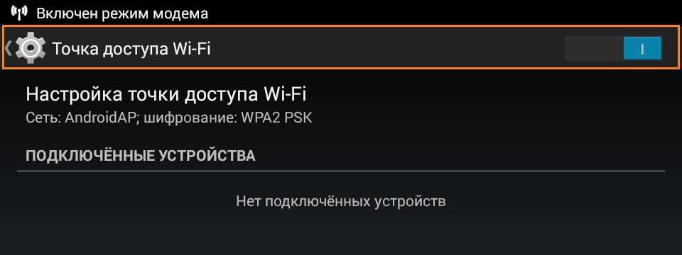 Режим модема wi-fi