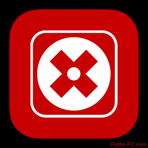 Логотип отключения программы McAfee