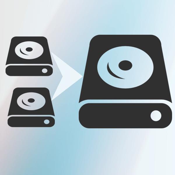 Объединение разделов диска