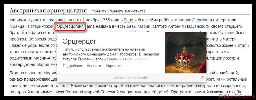Яндекс Бар для Гугл Хром карточка