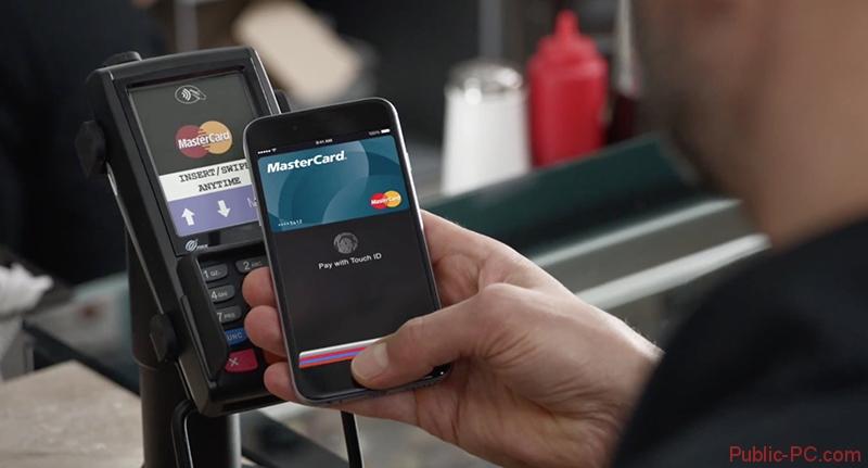 Оплата покупок в магазине с помощью Apple-Pay