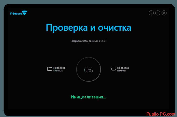 F-Secure-Online-Scanner загрузка баз данных