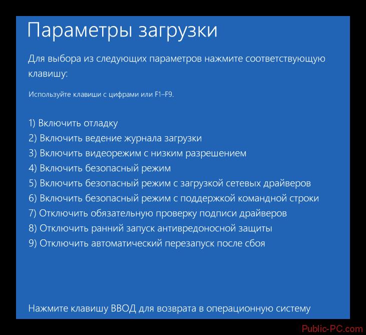 Windows-8 Параметры загрузки