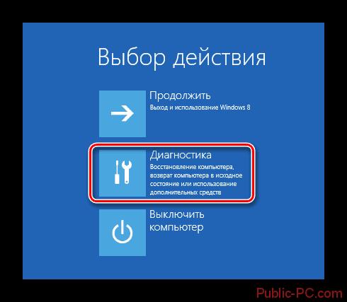 Windows-8 выбор действия