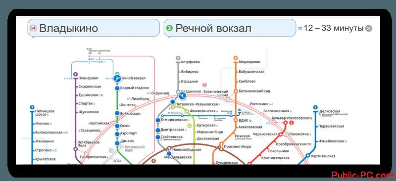 Интерактивная карта на mskof