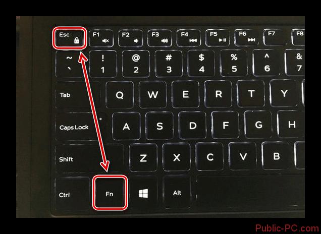 Использование клавиш с замочком на клавиатуре