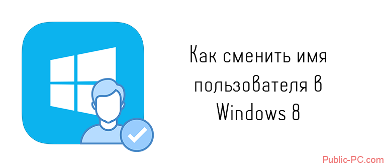 Как сменить имя пользователя в Windows-8