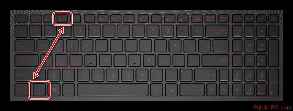 Использование кнопки F3 на клавиатуре ноутбука ASUS