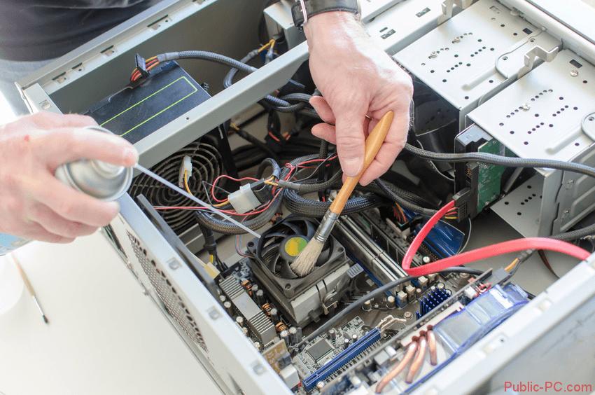 Очистка компьютера от пыли и грязи
