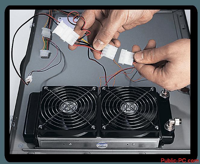 Podkluchenie-radiatora-vodyanoi-sistemi-ohlasdeniya-k-pitaniu