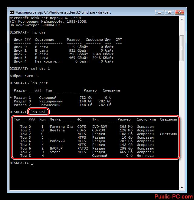 Vyivod-spiska-razdelov-na-vseh-diskah-kompyutera-v-Komandnoy-stroke-Windows-7
