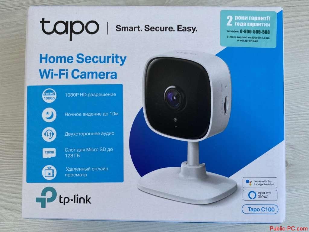 Упаковка Домашняя Wi-Fi камера ТР-LINK Таро С100